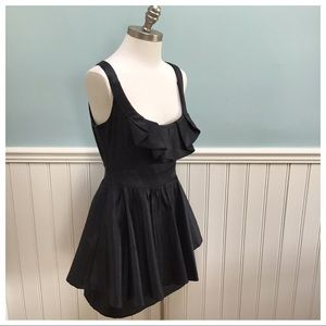Anthro Hazel Peplum Mini Ruffle Dress M
